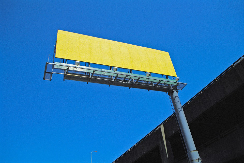 billboard ve výšce