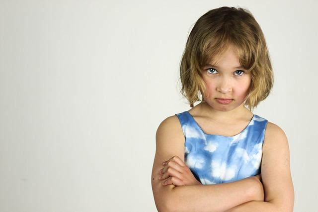 naštvaná holka