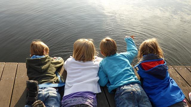 děti na molu