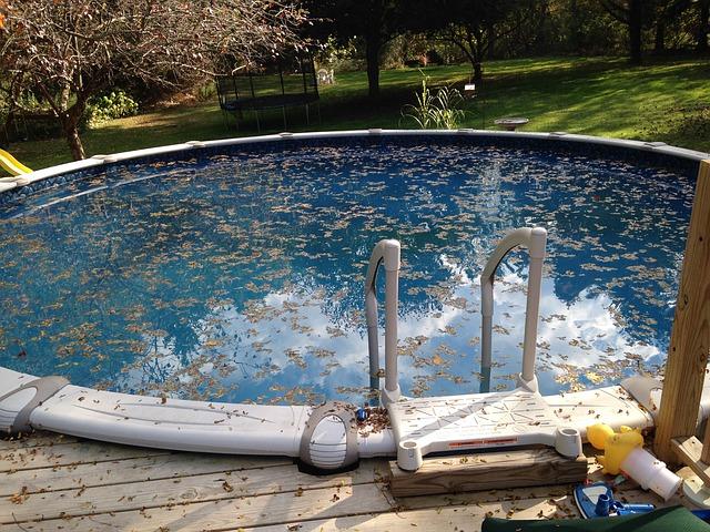 lsity v bazénu