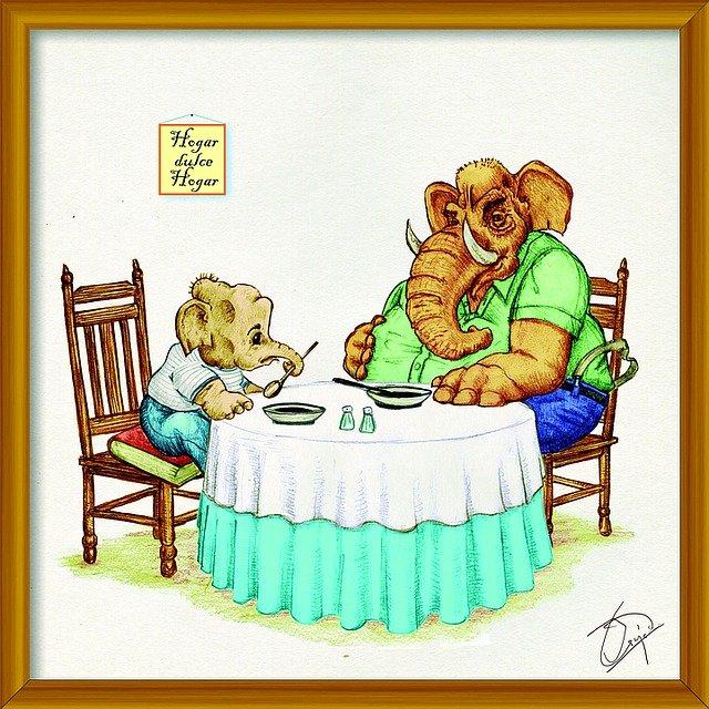 sloní večeře