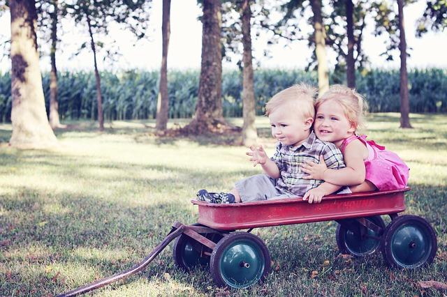 děti ve vozíku